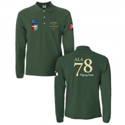 Green 1946 Long-Sleeved Polo Shirt