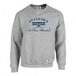 Sweatshirt Gray Aviación A3P